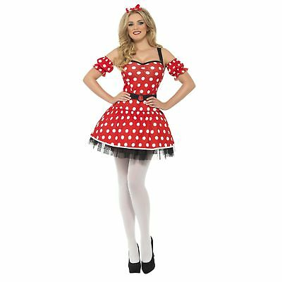 £15.39 • Buy Cute Spotty Madame Missie Mouse Womens Ladies Fancy Dress Costume