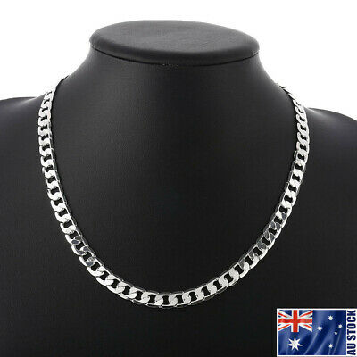 AU9.95 • Buy Wholesale 925 Sterling Silver Filled 8MM Classic Curb Necklace Chain Stunning