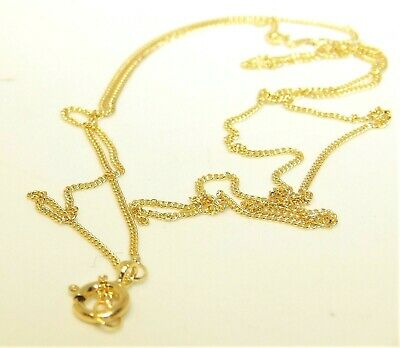 £25.95 • Buy 9ct Gold Chain 18 Inch Curb Trace Chain Solid 9 Carat Yellow Gold Necklace