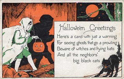 $ CDN54.41 • Buy Halloween Postcard Published By Metropolitan News, Series 1135, Boy With Jol Cat