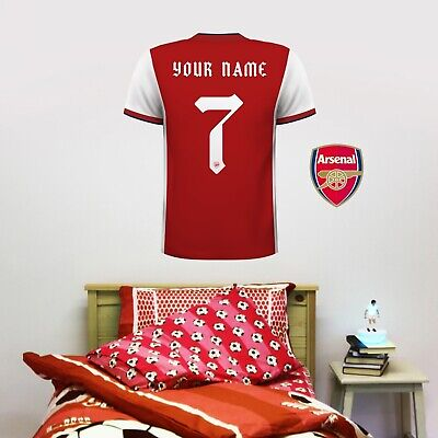 £19.99 • Buy Arsenal FC Official 20/21 Personalised Shirt Wall Sticker + Arsenal Decal Set