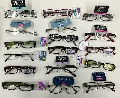 7c1808359f00 WHOLESALE LOT- 10 FOSTER GRANT Magnivision READING GLASSES Assorted 1.25 -  3.25 • 19.99