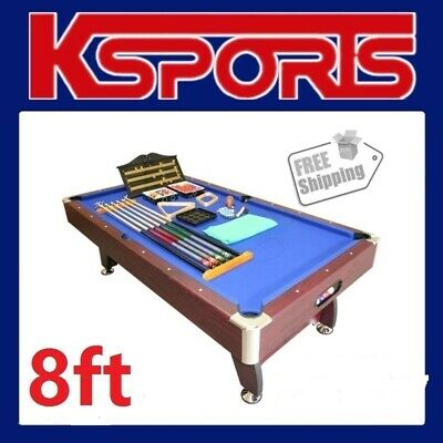 AU740 • Buy 8ft Pool Table Pub Size Mdf Snooker Billiard Table Blue - Brand New