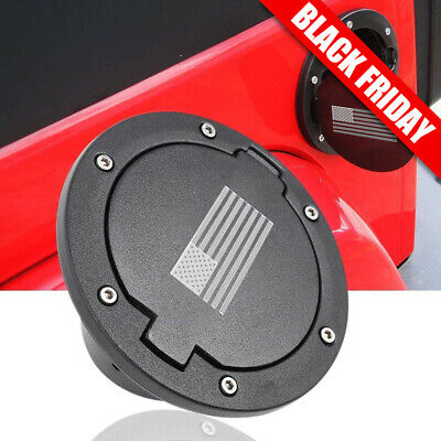 $23.35 • Buy Fuel Gas Tank Cap Cover For 2007-2017 Jeep Wrangler JK & Unlimited 2/4Dr US Flag