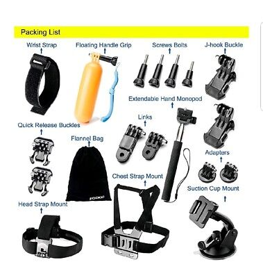 $ CDN52.90 • Buy Accessories Bundle Kit GoPro Hero5 43+321 Black SJ4000 SJ5000 Outdoor Sports Kit