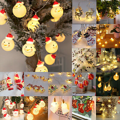 $8.54 • Buy Christmas LED String Lights Snowman Fairy Indoor Outdoor Party Xmas Tree Decor