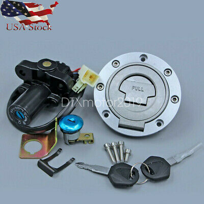 $35.77 • Buy Fuel Gas Tank Cap Ignition Switch Seat Lock For Yamaha R6 2006-2015 R1 2004-2015