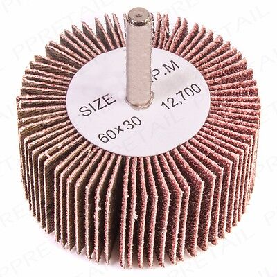 QUALITY 80 GRIT FLAP WHEEL SANDING DRILL BIT 6mm Shank Paint/Metal Remover Sand • 6.71£