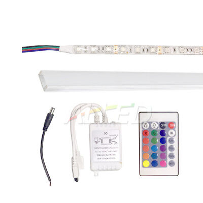 AU29.90 • Buy Easter 1m RGB LED Strip Light Kit+1m Extrusion Channel Bar Remote Controller