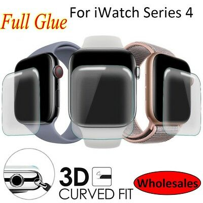$ CDN3.34 • Buy For Apple Watch Series 4 3 2 1 Clear Full Covered Tempere Glass Screen Protector