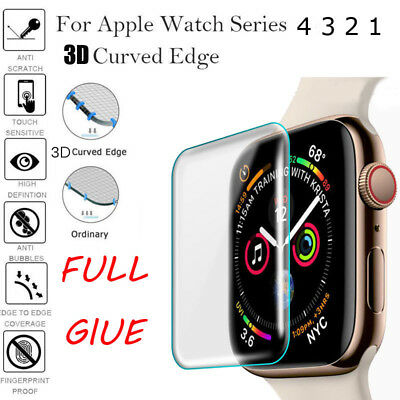 $ CDN2.57 • Buy For Apple Watch Series 4 3 2 3D Full Cover Tempered Glass Screen Protector Film