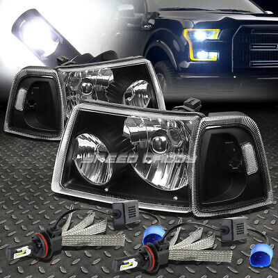 $99.06 • Buy Black Housing Headlight+clear Corner+6000k White Led System For 01-11 Ranger
