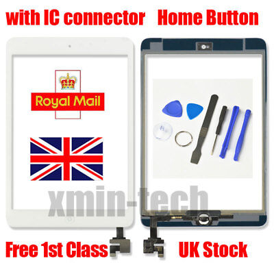 £7.99 • Buy For White IPad Mini 1/2 Touch Glass Digitizer Screen Replacement +IC Home Button