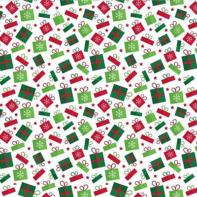 £2.95 • Buy Printed Bow Fabric A4 Christmas Presents CM32 Make Glitter Bows