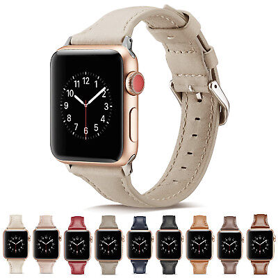 AU12.90 • Buy Slim IWatch Leather Band Women Strap For Apple Watch Series 6 5 4 3 2 SE 40/44mm