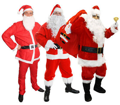 Adults Santa Claus Costumes Deluxe Budget Father Christmas Xmas Fancy Dress Lot • 8.99£