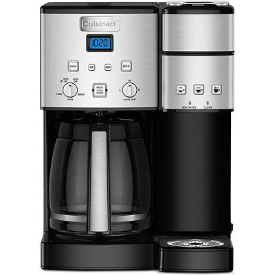 View Details Cuisinart Coffee Maker W/ 12-Cup Carafe & Single-Serve Brewer, Stainless Steel • $