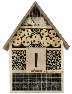 £14.99 • Buy Woodside Wooden Insect Bee House Natural Wood Bug Hotel Shelter Garden Nest Box