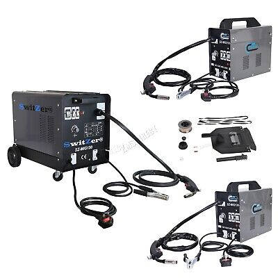 SwitZer Portable Gasless Welder Welding Machine With Kit Mask Arc MIG 230V Grey  • 120.99£