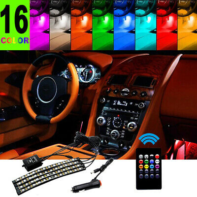 $11.50 • Buy 48 LED Car Charge Interior Accessories Floor Decorative Atmosphere Lamp Light US