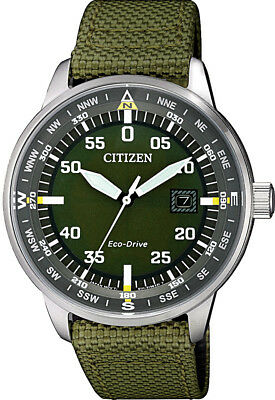 AU179 • Buy Citizen Eco-Drive Stainless Steel Nylon Strap Mens Watch BM7390-22X. Casual Chic