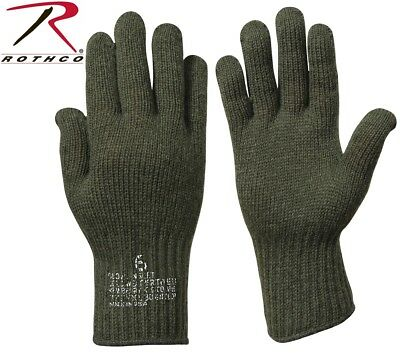 $8.28 • Buy D-3A Wool Glove Liners Genuine Military Issue Olive Drab Green Rothco 8418