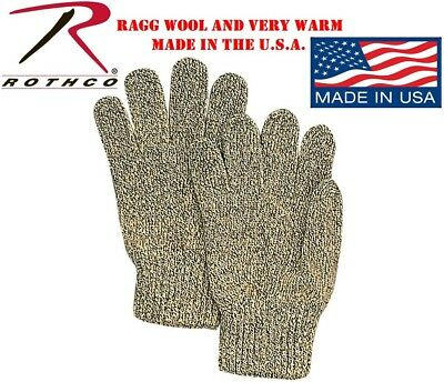 $12.48 • Buy Ragg Wool Winter Gloves One Size Fits All Beige & Grey Made USA Rothco 8416
