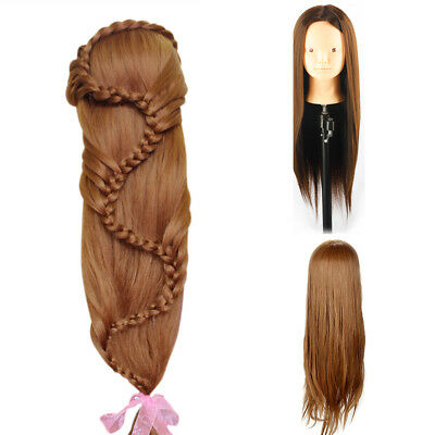 26 Inch Salon Hair Styling Hairdressing Training Head Mannequin Doll &Clamp • 10.59£