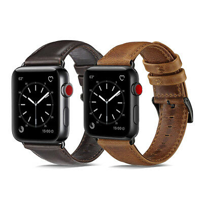 $ CDN13.38 • Buy 40/44mm Genuine Leather IWatch Band Strap Bracelet Fr Apple Watch Series 5 4 3 2
