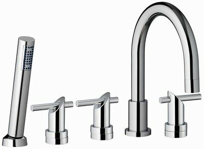 Bath And Shower Mixer - Solid Brass - 5 Hole Chrome Low Pressure UK Seller B305 • 125.99£