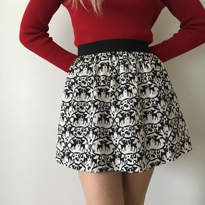 £14.99 • Buy Topshop Deer Friend Concession Kitsch 50's Skirt Bow Silhouette Cherry Fawn