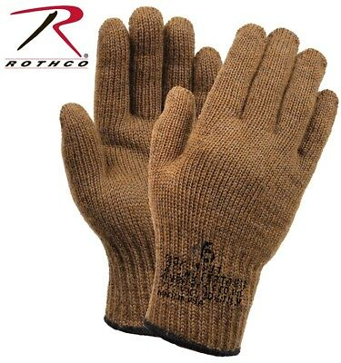 $8.98 • Buy Coyote D-3A Military Wool Nylon Blend Glove Liners - Made In The USA Rothco 8458