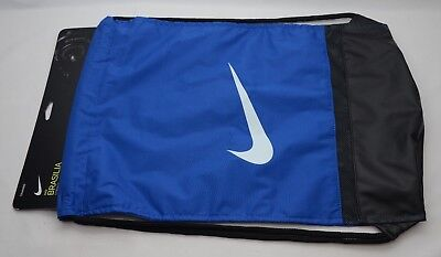 7b6d154315 Nike Brasilia Gymsack Blue Black White New With Tags BA5338 480 • 15.00