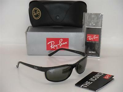26977f7ecac Ray-Ban Predator 2 RB 2027 601 W1 62mm Shiny Black   Polarized Grey
