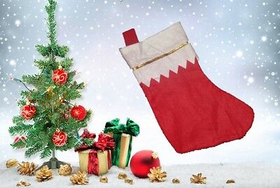 £2.30 • Buy Deluxe Father Christmas Santa Sock Sack Red Stocking Bag Gift Presents Xmas Toy
