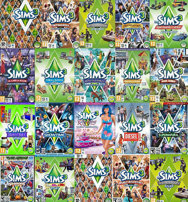 AU27.99 • Buy The Sims 3 ALL Expansion Origin Global PC Key