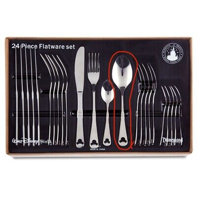 Disney Parks MICKEY MOUSE Stainless Steel Flatware Silverware TABLESPOON Spoon • 7.43£