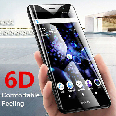 AU3.38 • Buy 6D Tempered Glass For Sony Xperia XA2 Ultra XZ2 Premium Full Screen Protective