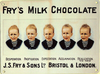 £7.10 • Buy New 15x20cm Fry's Frys Chocolate Vintage Reproduction Metal Advertising Sign