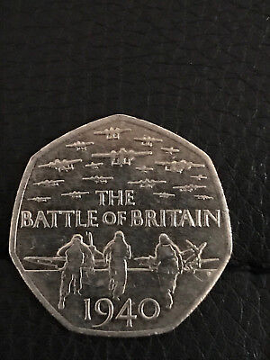 50p Pence Coin  The Battle Of Britain 1940 • 1.98£