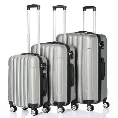 View Details Hardside 3 Piece Nested Spinner Suitcase Luggage Set With TSA Lock Grey • 78.89$