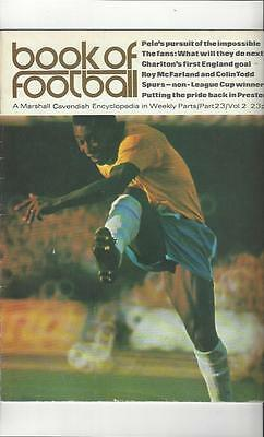 Book Of Football Marshall Cavendish 1972 Part 23 • 4£