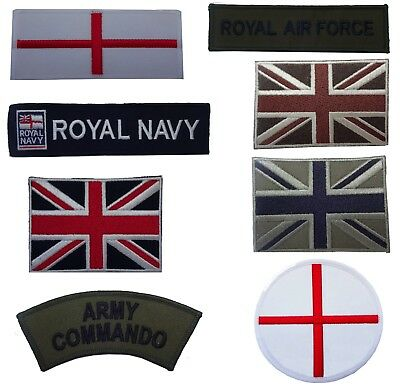 Military Style Embroidered Iron On Sew On Patches Badges Transfers Fancy Dress • 1£