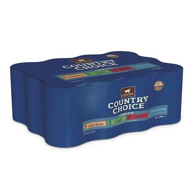 Gelert Country Choice Cat Chunks Assorted Flavours 12x400g Wet Cat Food Tins • 15.08£