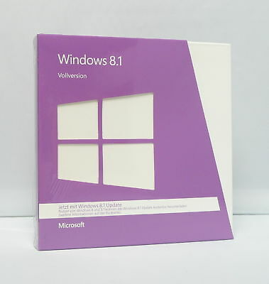Microsoft Windows 8.1 - Vollversion Mit CD/DVD - 32/64Bit - Deutsch - • 85.61£
