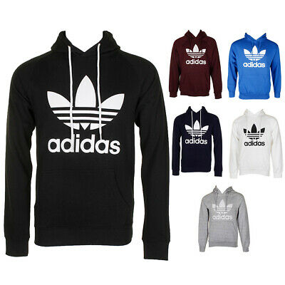 $ CDN45.43 • Buy Adidas Men's Trefoil Logo Graphic Pouch Pocket Pullover Hoodie