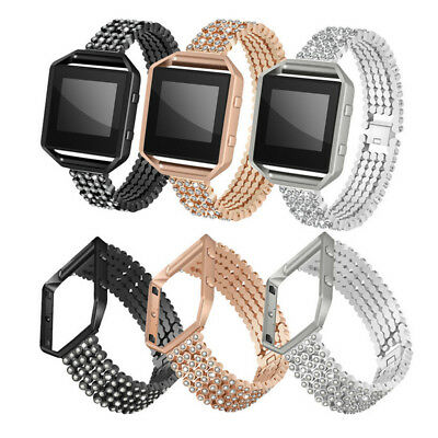 AU21.80 • Buy Stainless Steel Metal Frame For Fitbit Blaze Rhinestone Link Bracelet Band Strap