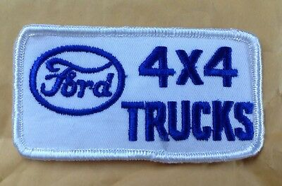 1970s 1980s FORD TRUCK 4x4 TRUCKS EMBROIDERED RALLY JACKET PATCH, VINTAGE • 7.71£