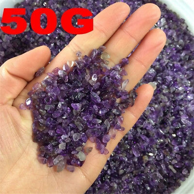 £1.59 • Buy 50g Small Natural Amethyst Point Quartz Crystal Stone Rock Chips Lucky Healing