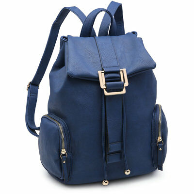 $34.39 • Buy Women Backpack Faux Girls School Travel Shoulder Bag Rucksack W/ Side Pockets